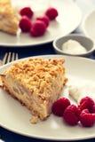 Tort z jagodami na talerzu obrazy royalty free