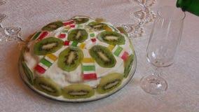 Tort z kiwi owoc zbiory