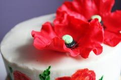 Tort z maczkami Obrazy Stock
