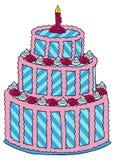 Tort z różami Obraz Stock
