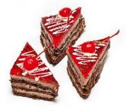 Tort z wiśnią Zdjęcie Stock