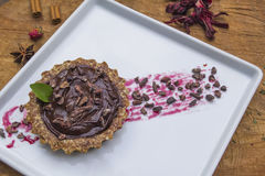 Torta巧克力积分式 免版税库存图片