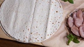 Torta ácima del trigo Foto de archivo libre de regalías