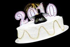 Torta 2010 de la celebración de la graduación Imágenes de archivo libres de regalías