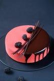 Torta acodada multi contemporánea de la crema batida Imagen de archivo libre de regalías