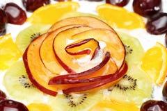 Torta adornada con la naranja Imagen de archivo