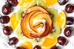 Torta adornada con la naranja Imagen de archivo libre de regalías