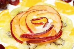 Torta adornada con la naranja Fotografía de archivo