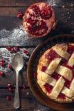 Torta agria rellena Fotos de archivo libres de regalías