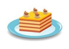 Torta amarilla stock de ilustración