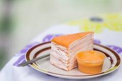 Torta anaranjada Foto de archivo libre de regalías