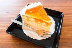 Torta anaranjada de la panadería hecha en casa imágenes de archivo libres de regalías