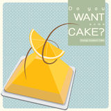Torta anaranjada de las natillas Foto de archivo libre de regalías