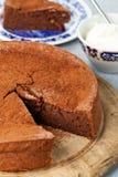 Torta anaranjada del chocolate Foto de archivo libre de regalías