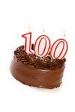 Torta: Apelmácese para celebrar el 100o cumpleaños Foto de archivo libre de regalías