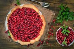 Torta apetitosa da airela Foto de Stock