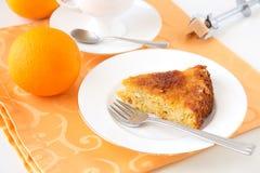 Torta arancio Fotografie Stock Libere da Diritti