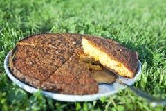Torta arancio Fotografia Stock Libera da Diritti