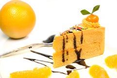Torta arancione Immagine Stock Libera da Diritti