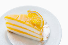 Torta arancione Fotografia Stock Libera da Diritti