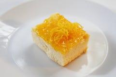 Torta arancione Fotografie Stock