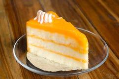 Torta arancione Immagini Stock