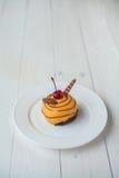 Torta arancione Immagine Stock