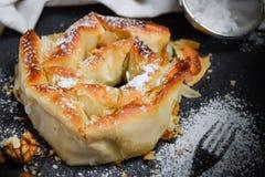Torta asada con la calabaza y el azúcar en polvo fotografía de archivo
