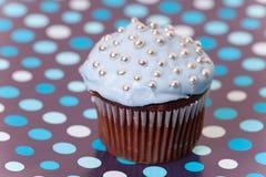 Torta azul de la taza Fotos de archivo