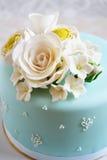 Torta azul magnífica Foto de archivo