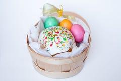 torta barwioni Easter jajka Obrazy Royalty Free