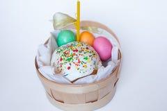 torta barwioni Easter jajka Fotografia Stock