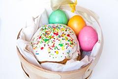 torta barwioni Easter jajka Obrazy Stock