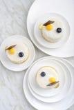 Torta blanca del postre del sésamo imagen de archivo libre de regalías