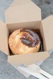 Torta britannica tradizionale in una scatola Fotografia Stock