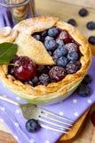 Torta casalinga decorata della bacca della pasticceria dello shortcrust Fotografia Stock Libera da Diritti