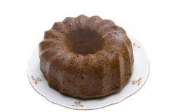 Torta casalinga del limone Fotografia Stock