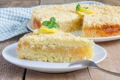 Torta casalinga del limone dello shortcrust Fotografia Stock