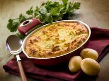 Torta casalinga della patata Fotografia Stock Libera da Diritti