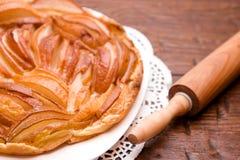 Torta casalinga della pera Fotografia Stock
