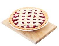Torta caseiro da cereja Imagem de Stock
