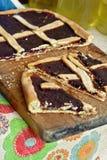 Torta caseiro da cereja Fotos de Stock Royalty Free