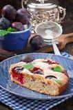Torta caseiro deliciosa com ameixas Imagem de Stock