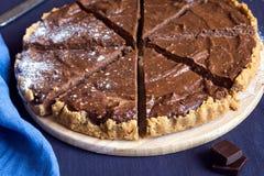 Torta caseiro do chocolate fotos de stock royalty free