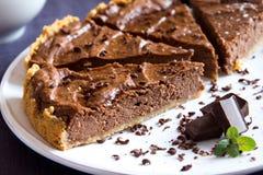 Torta caseiro do chocolate imagem de stock
