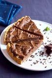 Torta caseiro do chocolate foto de stock