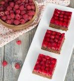 Torta caseiro saboroso da framboesa Foto de Stock Royalty Free