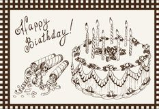 Torta celebradora Fotos de archivo libres de regalías
