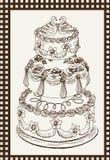 Torta celebradora Imágenes de archivo libres de regalías