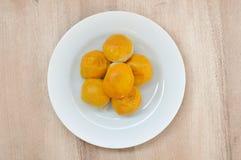 Torta china de los pasteles o de la luna, postre por Año Nuevo chino Fotografía de archivo libre de regalías